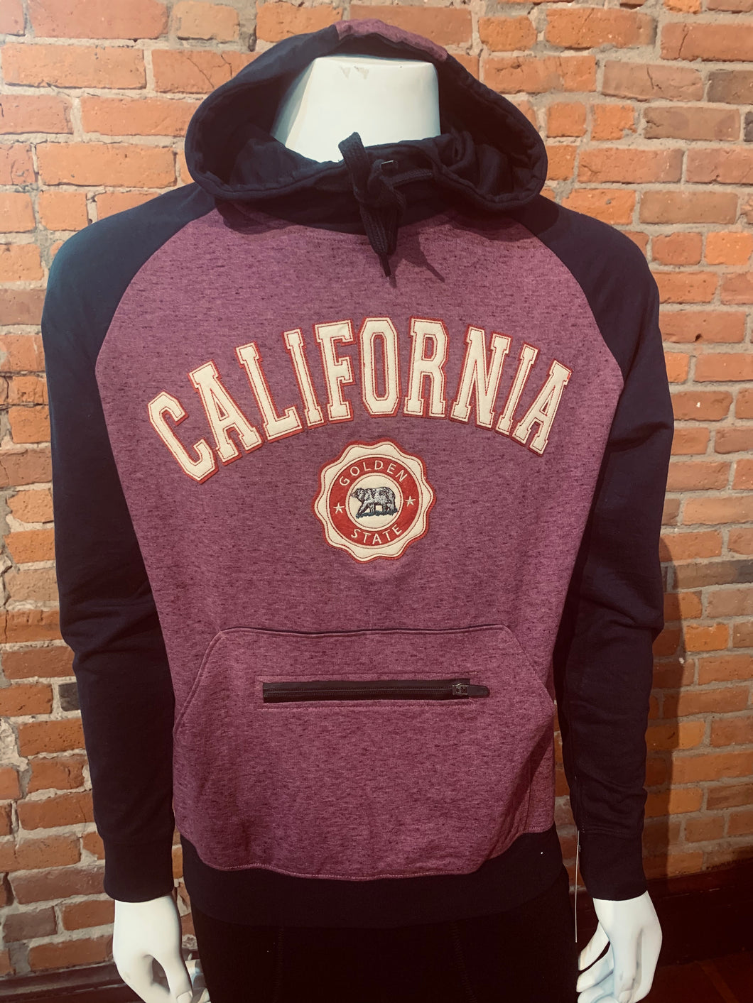 Hoodie zip up CALIFORNIA