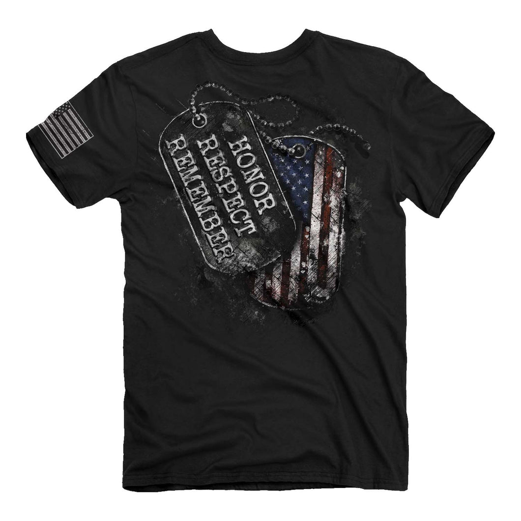 Buck Wear - Honor, Respect, Remember Tag  T-Shirt