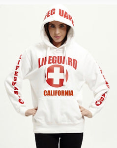 Lifeguard - Hoodie California Print WHITE
