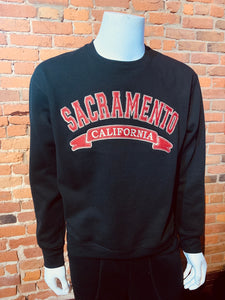 Sacramento California Embroided Crewneck Sweater