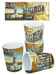 HISTORY Shot Glass Sacramento Printed