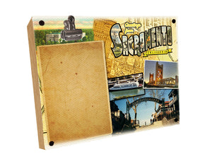 HISTORY Clip Canvas Photo Frame Sacramento Printed
