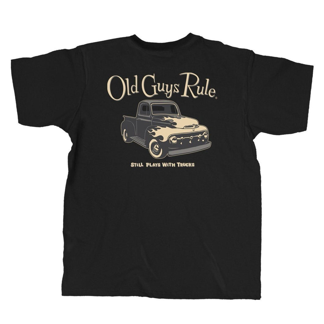 Old Guys Rule- Plays with Truck T-Shirt - OG496