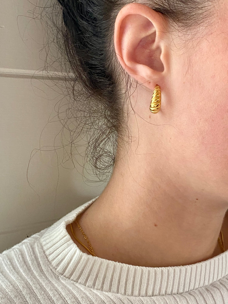 Mini Croissant Earrings