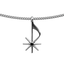 Load image into Gallery viewer, Silver Starnote Necklace