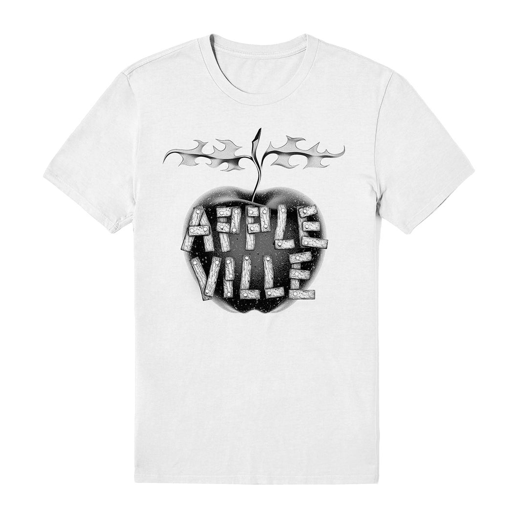 Appleville White Tee