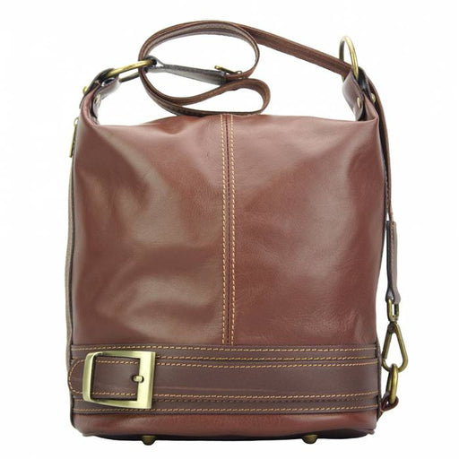 Italian Artisan Caterina Womens HANDMADE  Leather Bucket or Backpack Handbag Made In Italy - Oasisincentives