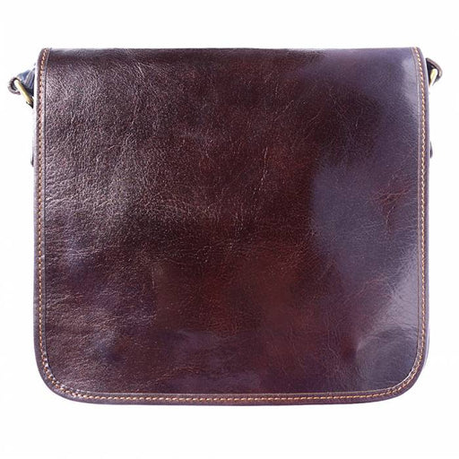 Italian Artisan Christopher Unisex Messenger Bag In Genuine Cow Leather Made In Italy - Oasisincentives