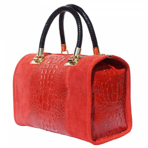 Italian Artisan Emma Womens Leather Boston Handbag Made In Italy - Oasisincentives