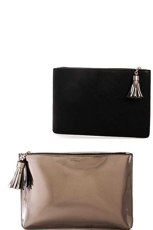 EVAVON Womens Fashion Stylish Two Color Clutch Bag - Oasisincentives