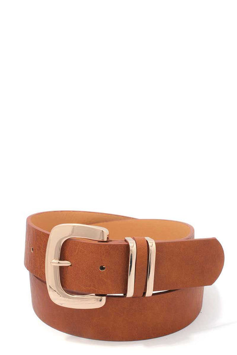 EVAVON Womens Apparel Metal Buckle Pu Leather Belt - Oasisincentives