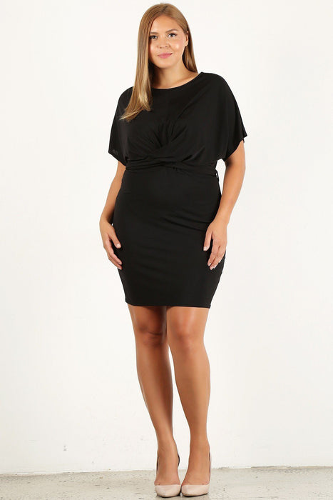 EVAVON Womens Plus Size Solid, Bodycon Dress - Oasisincentives