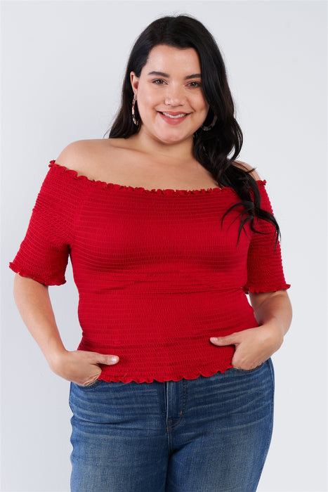 EVAVON Womens Plus Size Off The Shoulder Top - Oasisincentives