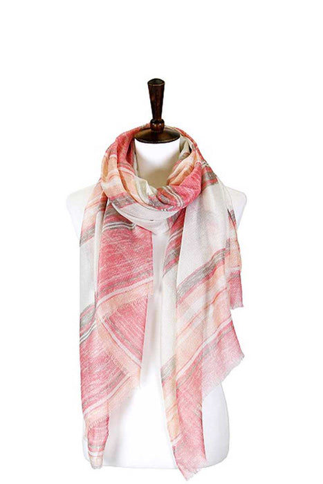 EVAVON Womens Apparel Striped Lurex Oblong Scarf - Oasisincentives
