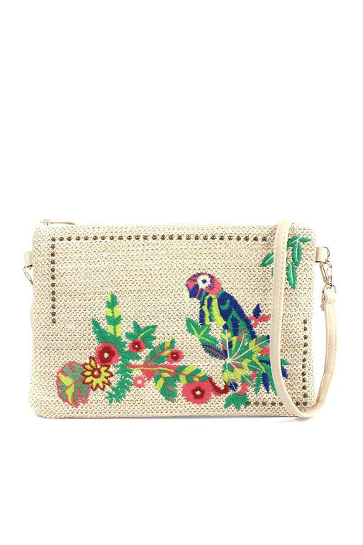 EVAVON Womens Macaw Embroidered Pouch - Oasisincentives