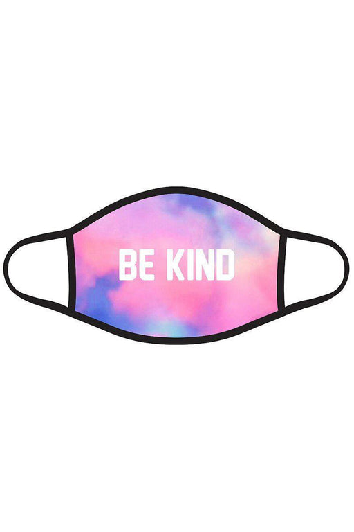 "EVAVON 3D Sequin  Multi Color Fashion Graphic Printed ""BE KIND"" Face Mask Unisex Adult - Oasisincentives"