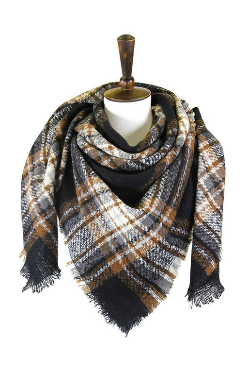 EVAVON Womens Apparel Accessories Plaid Square Blanket Scarf - Oasisincentives