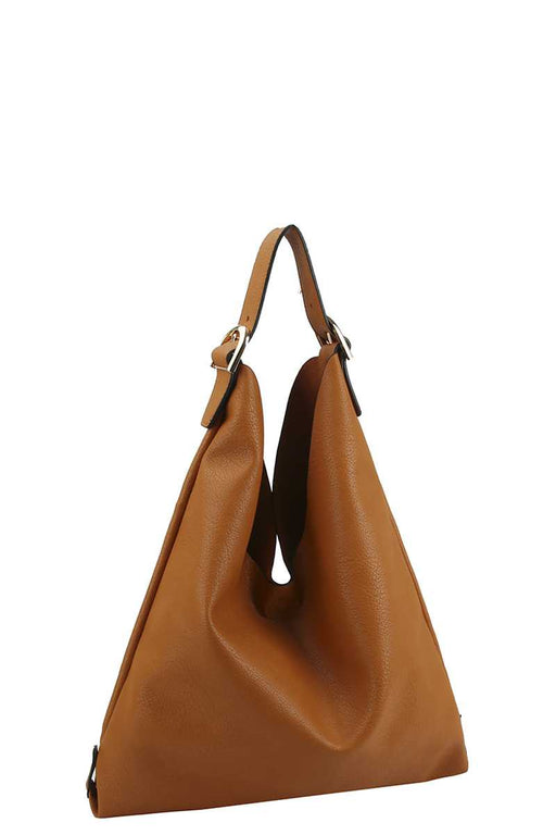 EVAVON Womens Stylish Smooth Textured Buckle Hobo Handbag - Oasisincentives