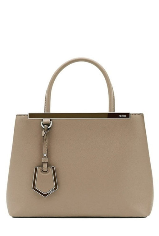 Fendi 2 Jours Dove Beige Calf Leather CrossBody - Oasisincentives