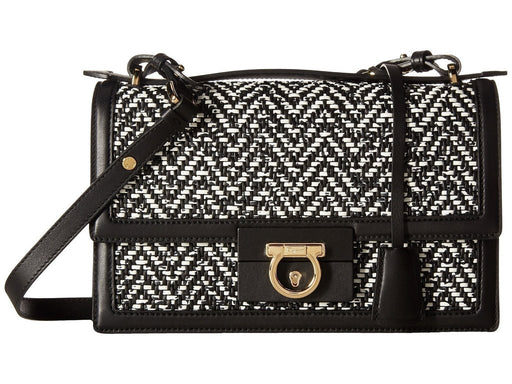 Ferragamo Women's Black and White Aileen Shoulder Handbag - Oasisincentives