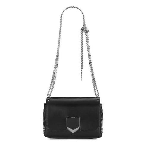 Jimmy Choo Women's Black Chrome Lockett Spazzolato Leather Bag - Oasisincentives