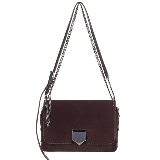 Jimmy Choo Women's Burgundy Suede Lockett City Crossbody Handbag - Oasisincentives