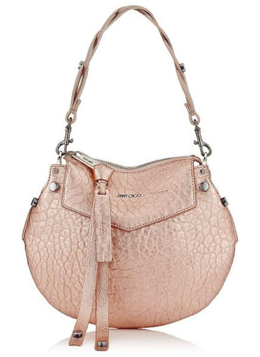 Jimmy Choo Women's Metallic Rose Gold Artie Mini Crossbody Handbag - Oasisincentives