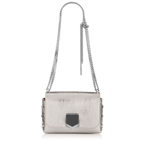 Jimmy Choo Women's Metallic Silver Lockett City Cross Body Bag - Oasisincentives