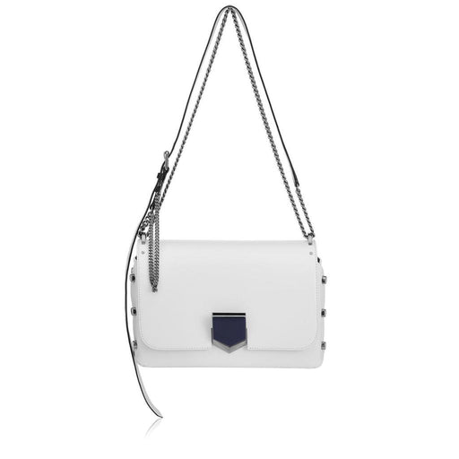 Jimmy Choo Women's Optic White Chrome Lockett Handbag - Oasisincentives