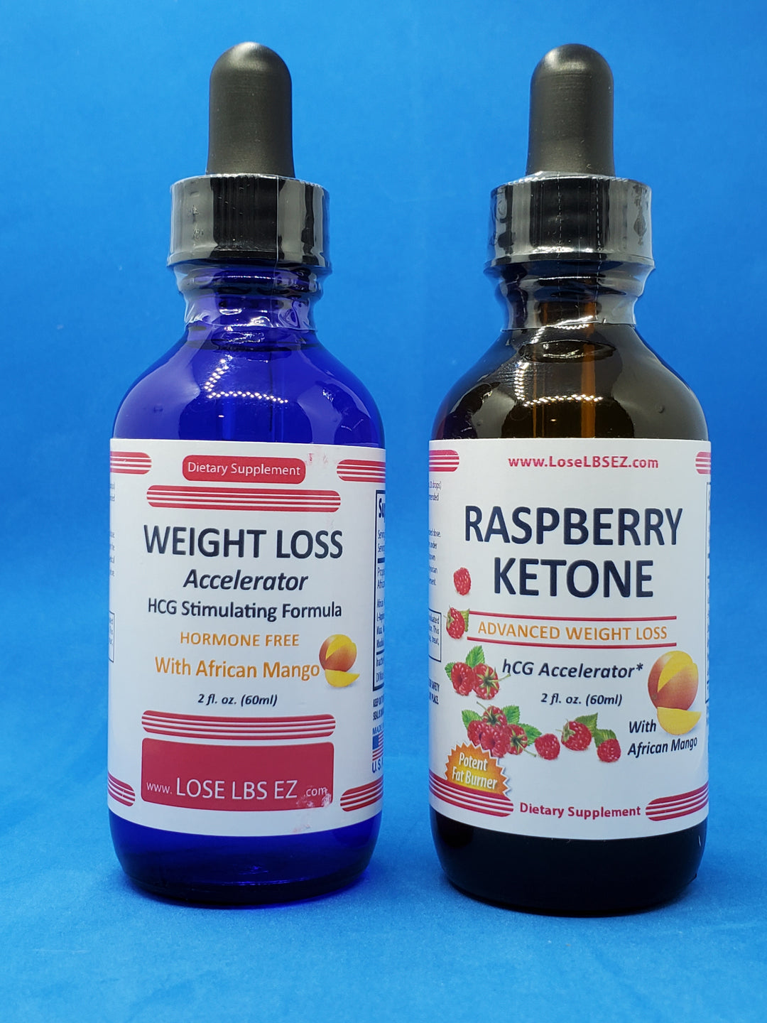African Mango + Raspberry Keytone - All Natural Rapid Weight Loss Pack