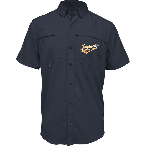 Navy Adult Short Sleeve Fishing Shirt