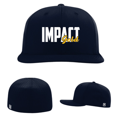 ALL Navy IMPACT GOLD BLOCK (White) Performance Hat