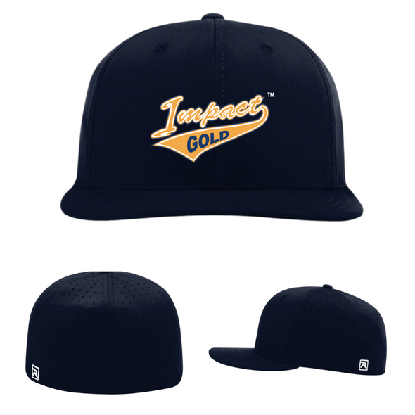 ALL Navy Impact Gold Tail Performance Hat