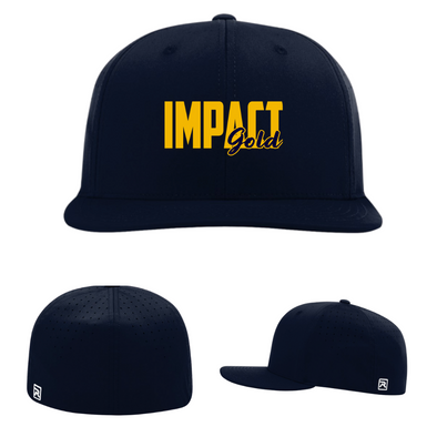 ALL Navy IMPACT GOLD BLOCK (Gold) Performance Hat