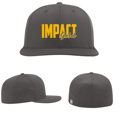 ALL Charcoal IMPACT Gold Block (Gold) Performance Hat