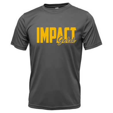 Charcoal IMPACT Gold Block(GOLD) Dri-Fit Locker Tee