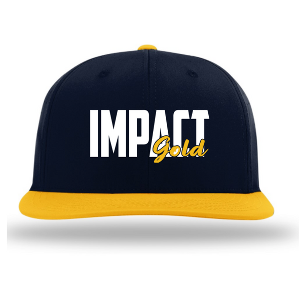 Navy/Gold IMPACT GOLD BLOCK Performance Hat