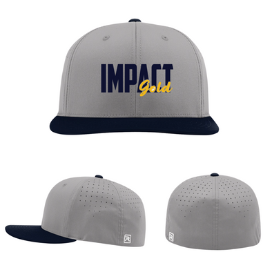 Grey Hat/Navy Bill IMPACT GOLD Block Performance Hat