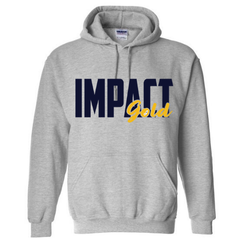 Grey Traditional Impact Gold BLOCK Hoodie