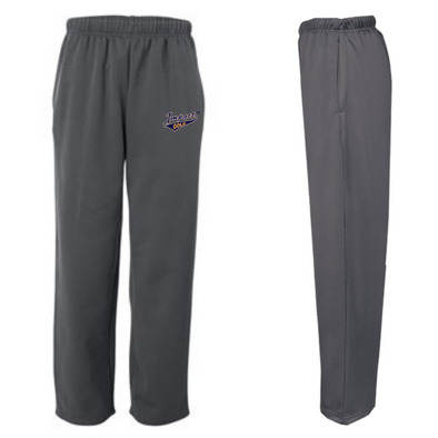 Grey Performance Fleece Open-Bottom Sweatpants