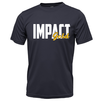 Navy Impact Gold BLOCK Dri- Fit