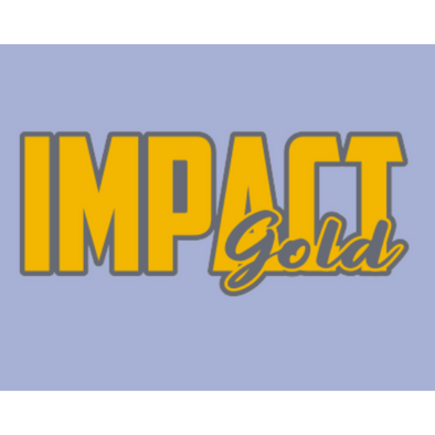 Gold Impact Gold BLOCK (Charcoal) Logo Decals