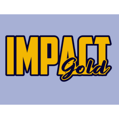 Gold Impact Gold BLOCK (Navy) Logo Decals