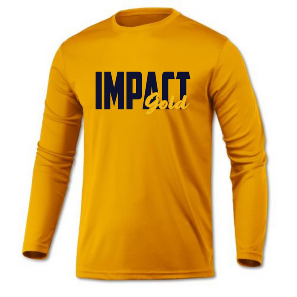 Gold Men's Crew Neck Impact Gold Block Long Sleeve