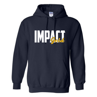 Navy Traditional Impact Gold BLOCK Hoodie