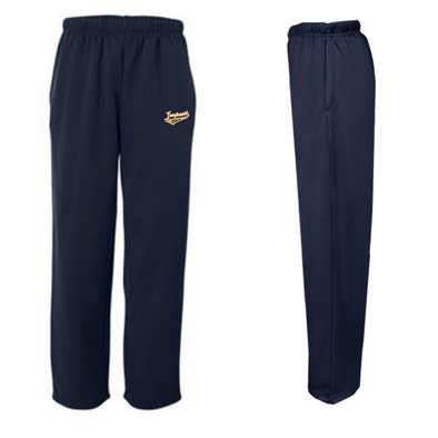 Navy Performance Fleece Open-Bottom Sweatpants