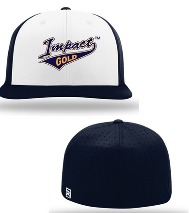 White Front & /Navy Bill & Back Impact Gold Tail Performance Hat