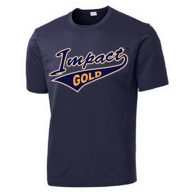 Navy Impact Gold Tail Dri-Fit Locker Tee