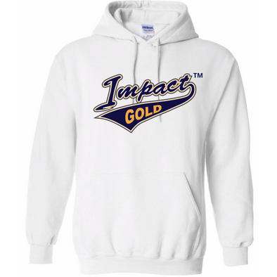 White Traditional Impact Gold Tail Hoodie