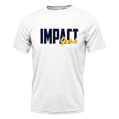 White Impact Gold BLOCK Dri- Fit